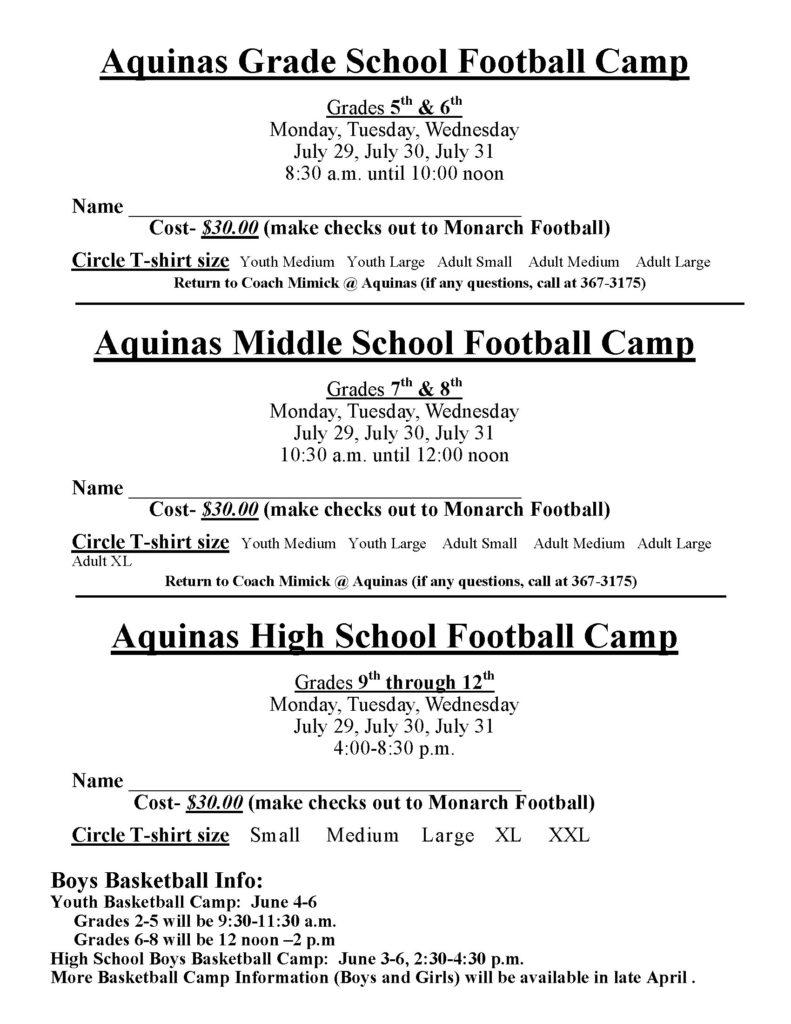 Youth FB Camp