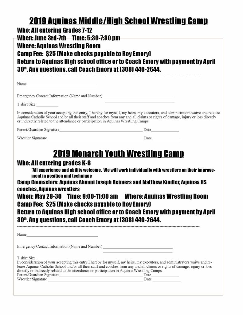 Youth WR Camp