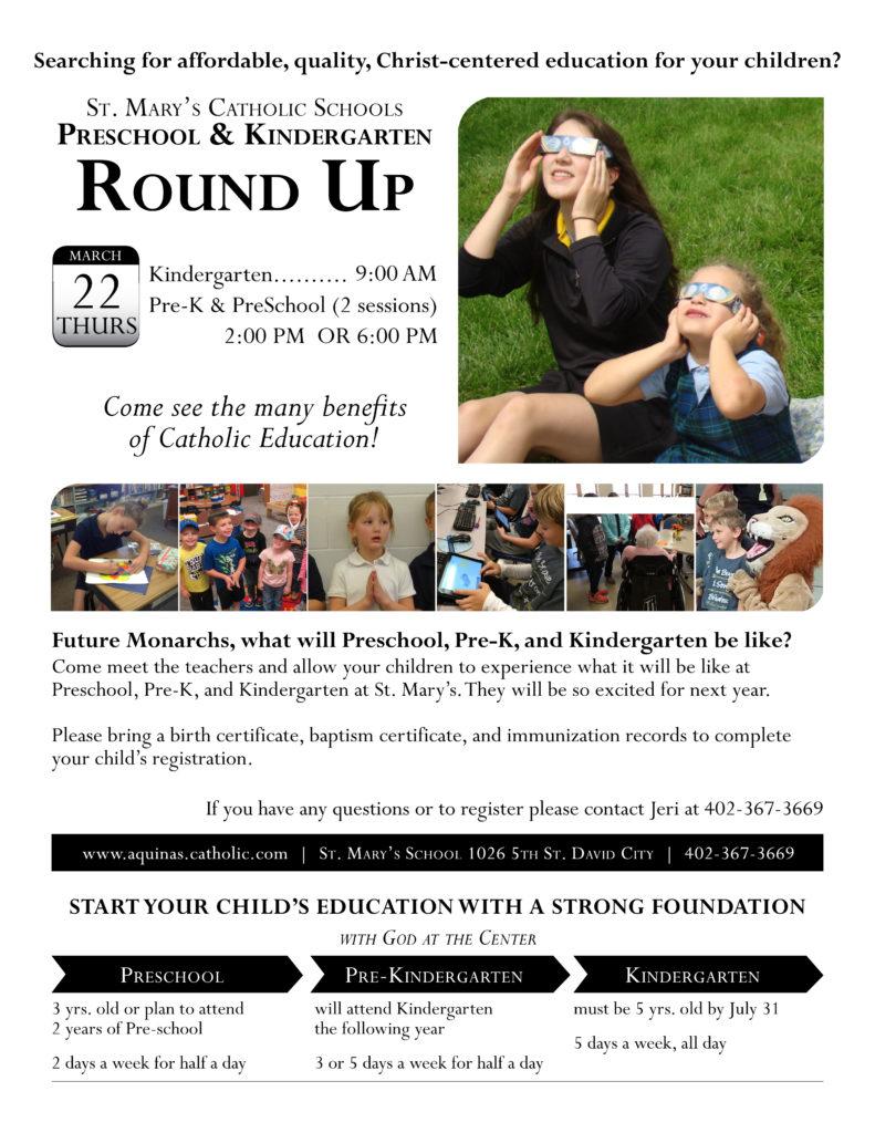 SMS PreK & Kindergarten Round-up