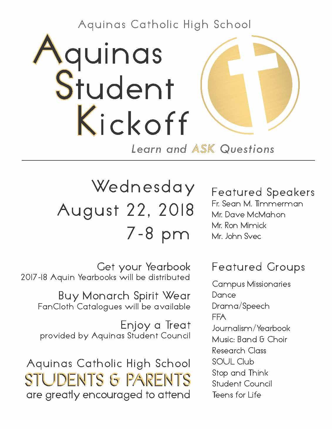 Aquinas Student Kickoff