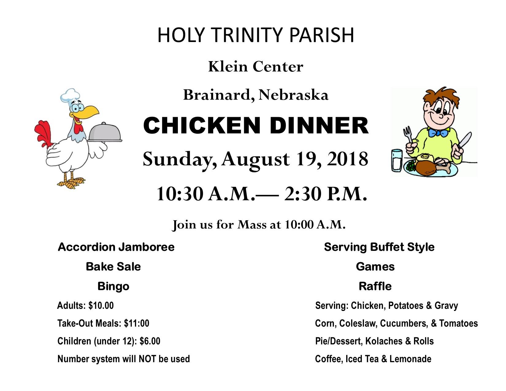 Brainard Holy Trinity Chicken Dinner