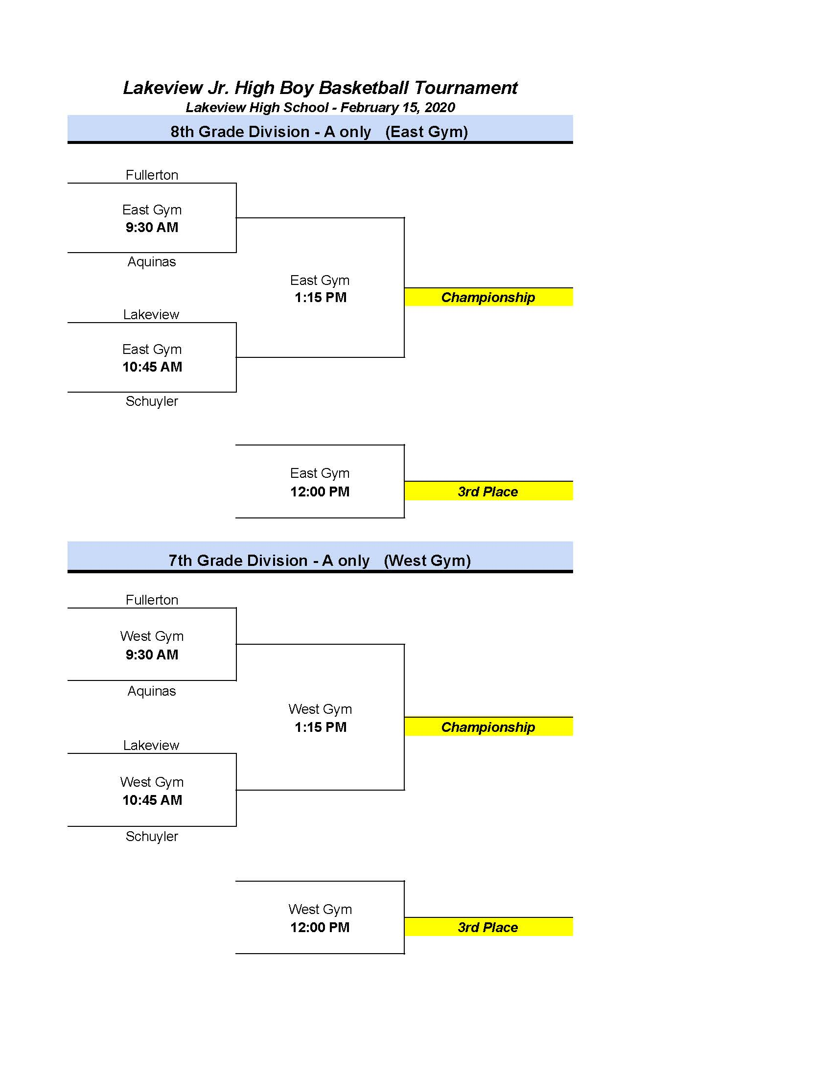 MS BBB @ Lakeview Tourney