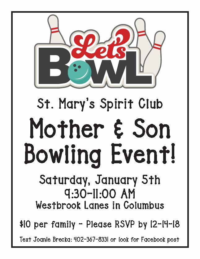 St. Mary's Mother/Son Bowling