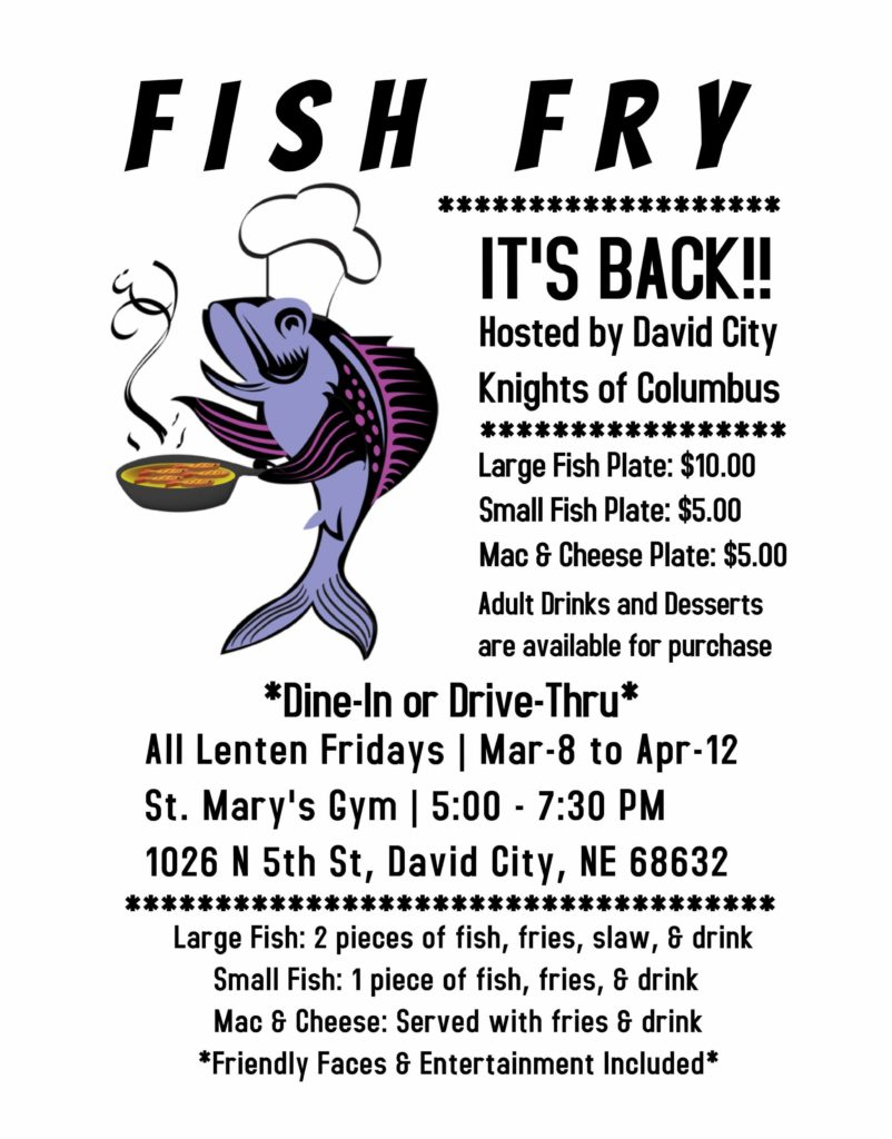 K of C Fish Fry @ St. Mary's Gym