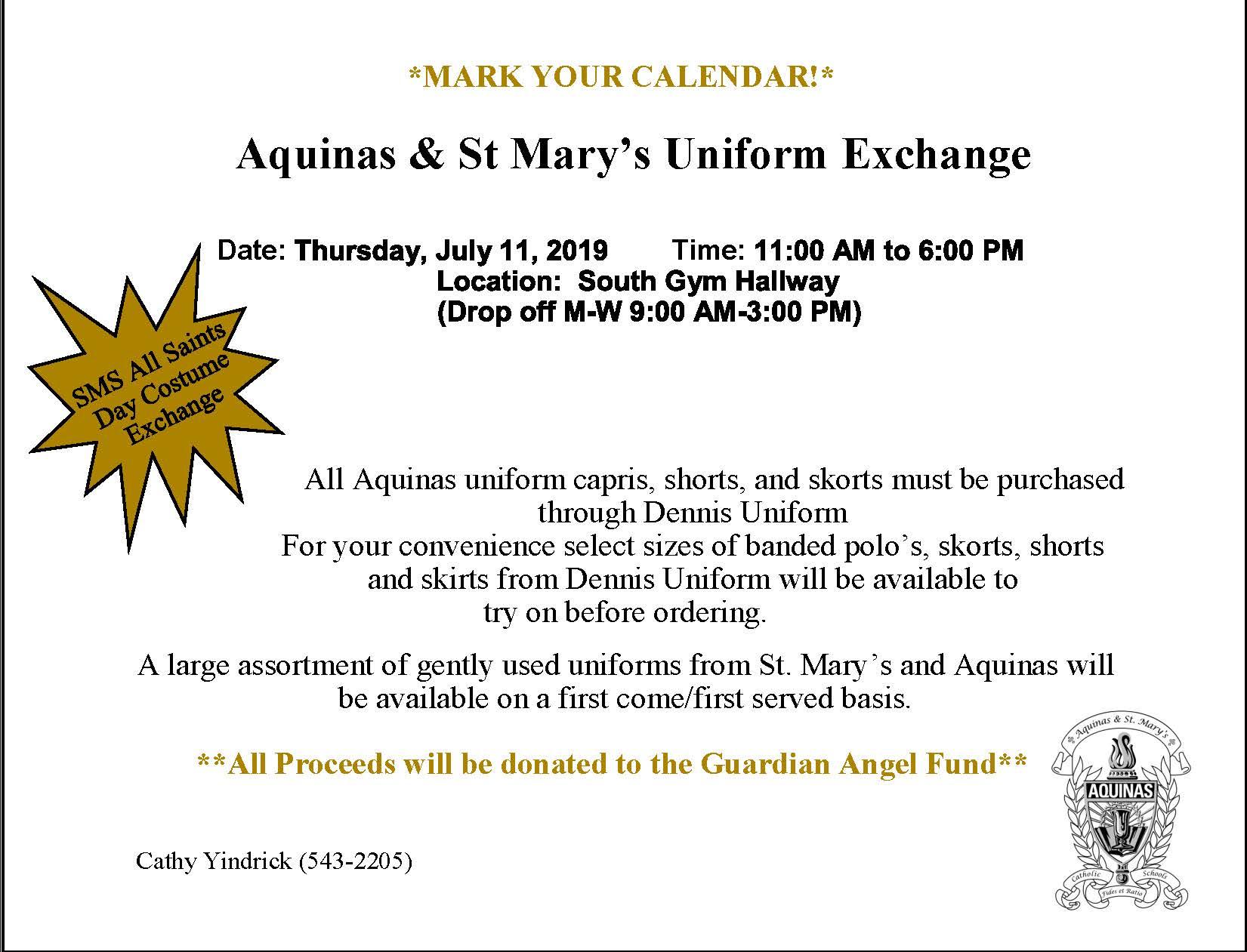 Aquinas & St  Mary's Catholic Schools » Uniform Exchange