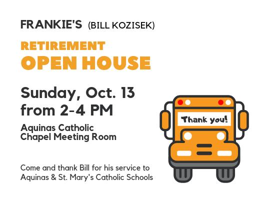 Bill's Retirement Open House